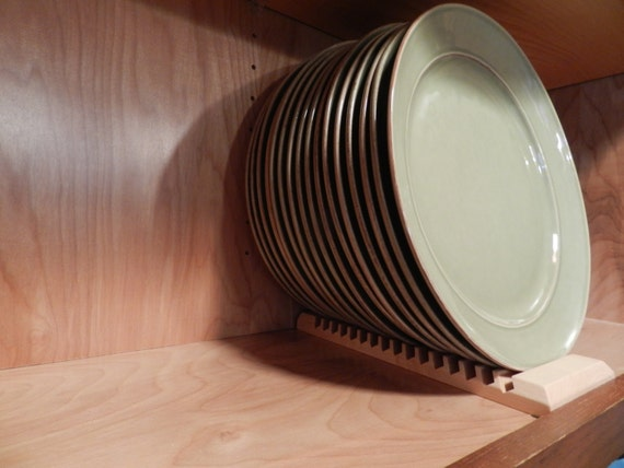Wood Plate Rack For Vertical Plate Storage Etsy
