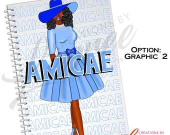 Half Size Zeta Phi Beta Amicae Graphic  Notebook
