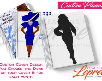 8.5 x 11 Custom Monthly Planner | 12 Month | Personalized Planner | Calendar & Notebook