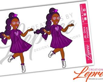 Fashion Planner Sticker: Jr. Diva Harper