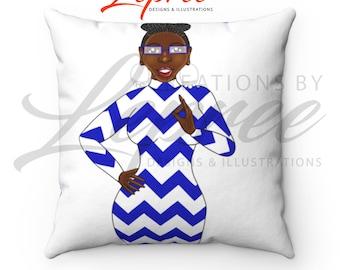 Zeta Diva Monica Chevron Pillow
