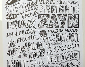 ZAYN mind of mine collage