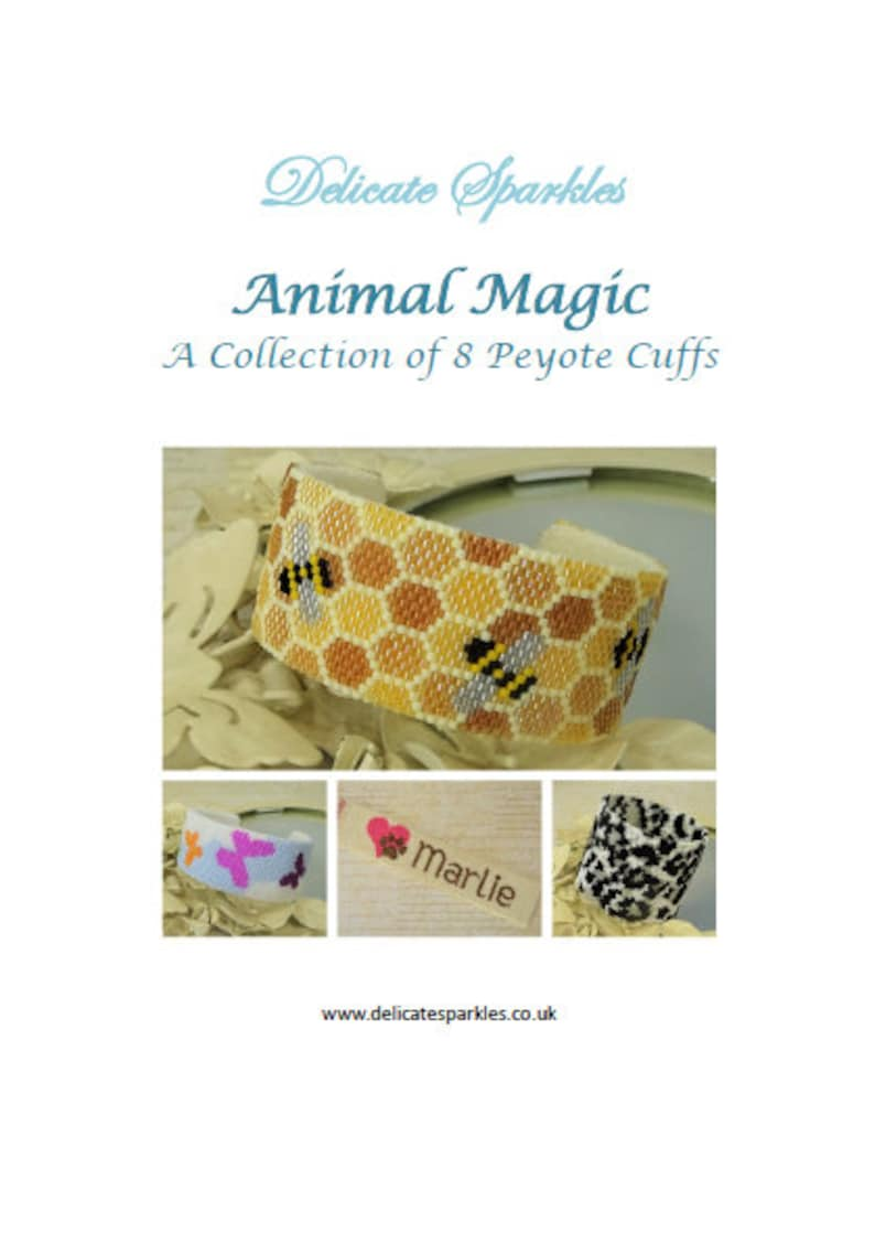 574cbe98199 DIGITAL TUTORIALS Animal Magic E-book Peyote Cuff