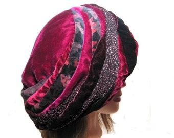 a86224520bb6f Hot Pink Velvet Beret Hat Festival Wear Fun Formal Beret Shakespearian  Baroque Beret Wearable Art Winter Fall Winter Warm Extra Large Corona