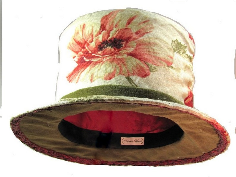 33797e64551 Red Poppy Top Hat Mad Hatter Tea Party Top Hat Gift for