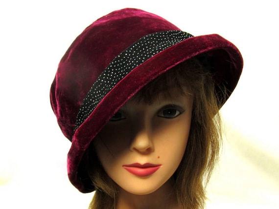 Hot Pink Bucket Hat Slouchy Black Sparkle Fedora  6e89a74b812