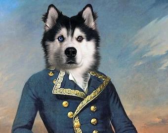 Marquis de Lafayette - Pet Portrait - Custom Renaissance Pet Dog/Cat Portraits - Digital personalized portrait painting