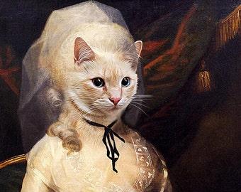 Elizabeth Schuyler from Alexander Hamilton Musical - Pet Portrait - Renaissance Pet Dog/Cat Portraits - painting using your Pet's Photo