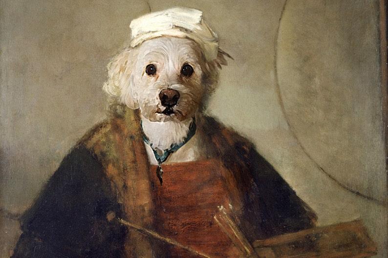 Renaissance Pet Portrait Painted By Hand Custom Pet Etsy