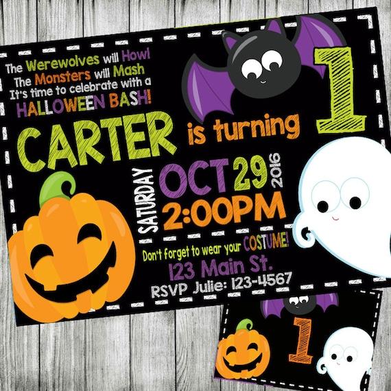 Halloween Party Birthday Invitation Costume