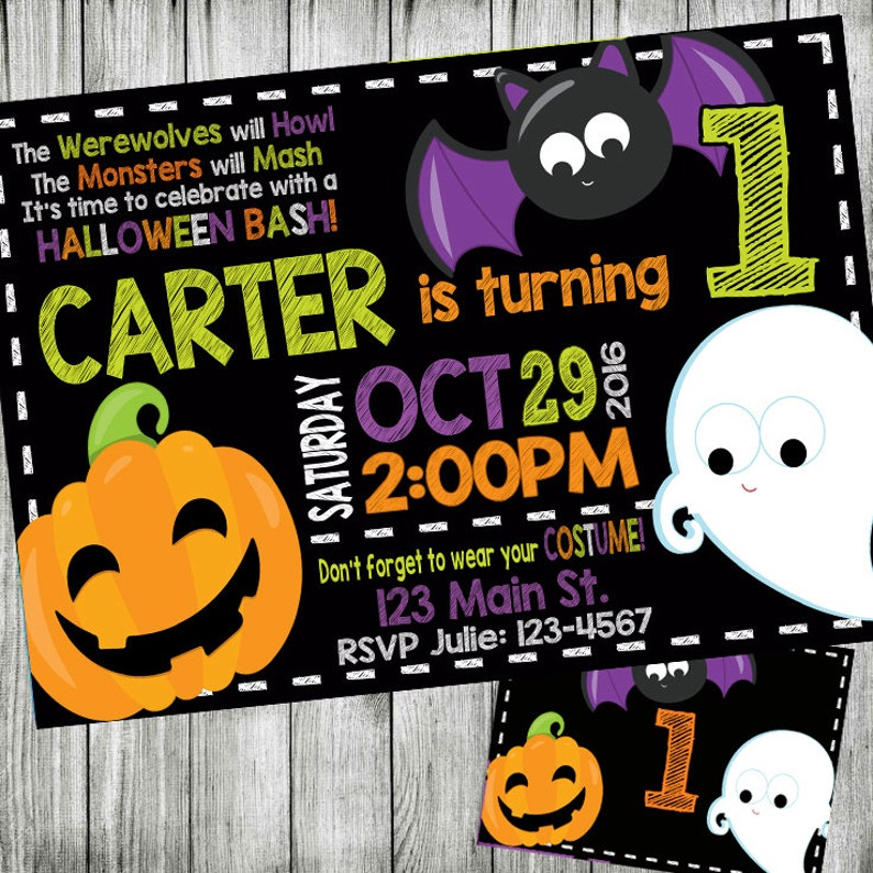 Halloween Party Birthday Invitation Costume