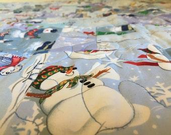 Snowmen twin quilt