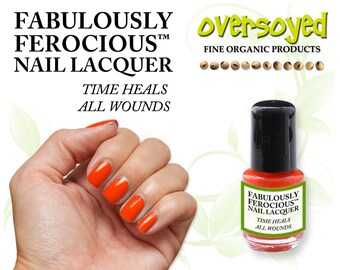 Time Heals All Wounds - Fabulously Ferocious™ Nail Lacquer Polish by OverSoyed Organic - Vegan Friendly Fun Safe Nail Indie Gift