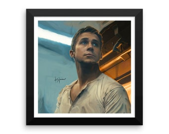 Ryan Gosling (Drive) Print • Framed