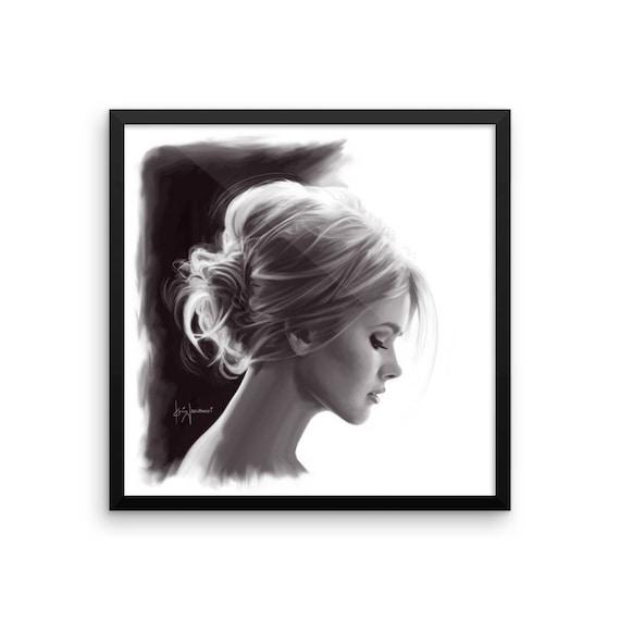 Brigitte S Chignon Print Framed Etsy