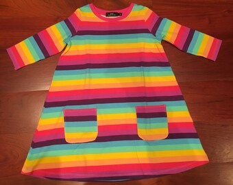 Rainbow Cotton Dress Size 2/3T and 6/7