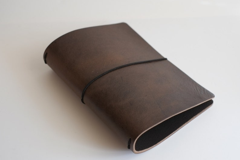 Bottom of the Barrel: 8-9 oz Brown Aztec  Leather journal image 0