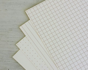 Brown on Light Ivory Paper 32lb: Dots, grids, lines