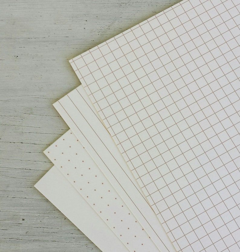Brown on Light Ivory Paper 32lb: Dots grids lines image 0