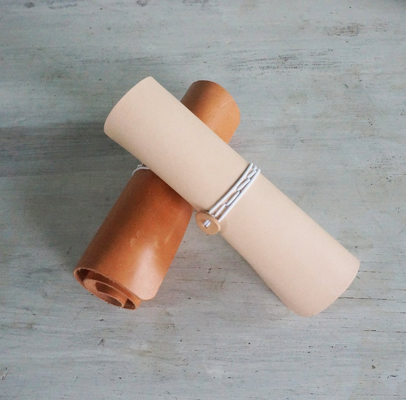 Adjustable Leather Roll Up Pencil Case image 0