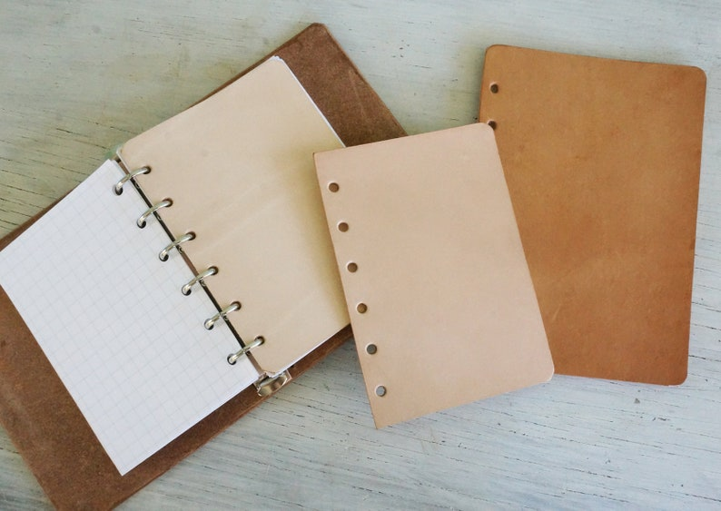 Leather Dashboard for looseleaf ring bound planners image 0