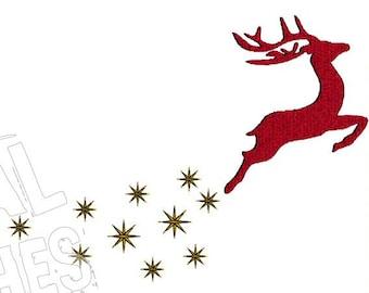Reindeer Deer Machine Embroidery Design
