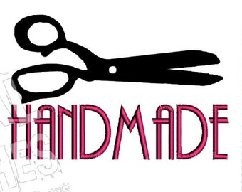 Handmade Saying Tailor Scissors Machine Embroidery Design
