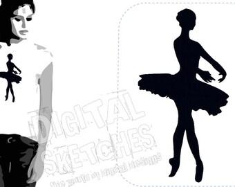 Ballerina Ballet Dance Machine Embroidery Design 3 Sizes