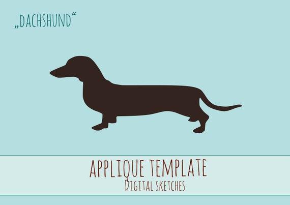 Applikationsvorlage Hund Dog Dackel Dachshund Tiere E-Book   Etsy