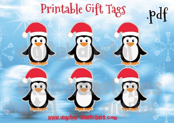 geschenkanh nger zum ausdrucken weihnachten printable labels etsy. Black Bedroom Furniture Sets. Home Design Ideas