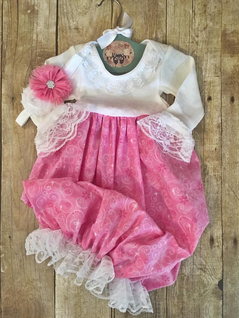 8f3c02db2 Princess Pink Hospital Dress Newborn Newborn Coming Home