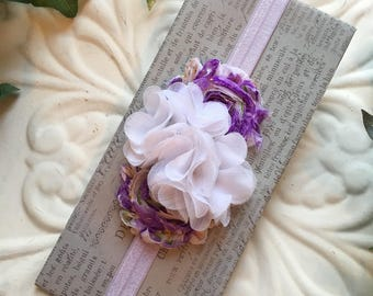 Floral Baby Headband, Purple Headbands for Babies, Baby Girl Headbands and Bows, Toddler Headbands, Kids Headbands, Headbands, Baby Bows