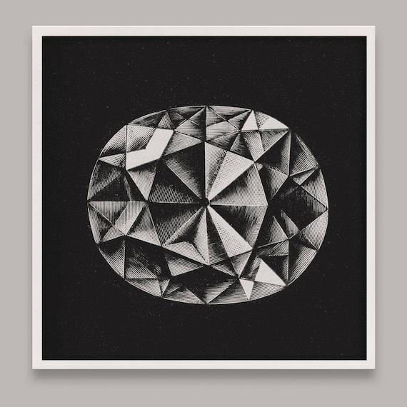 Diamond Art Print Jewel Wall Art Gem Art Gem Art Diamond | Etsy