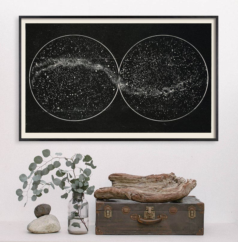 Celestial Star Chart Constellation Wall Print Star Map | Etsy on