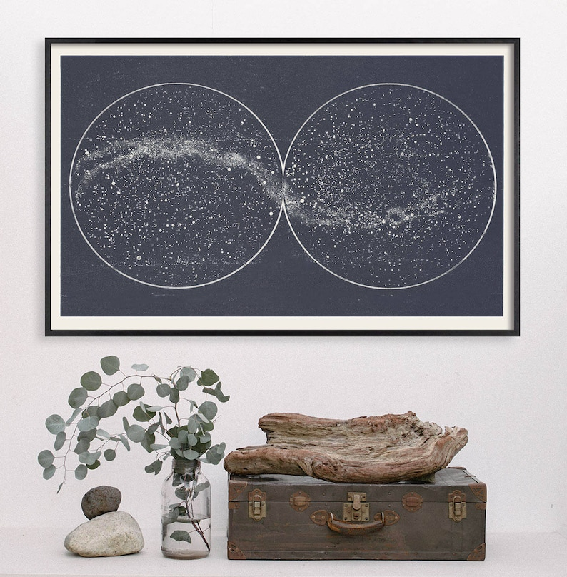 Star Map Star Chart Print Double Constellation Wedding image 0