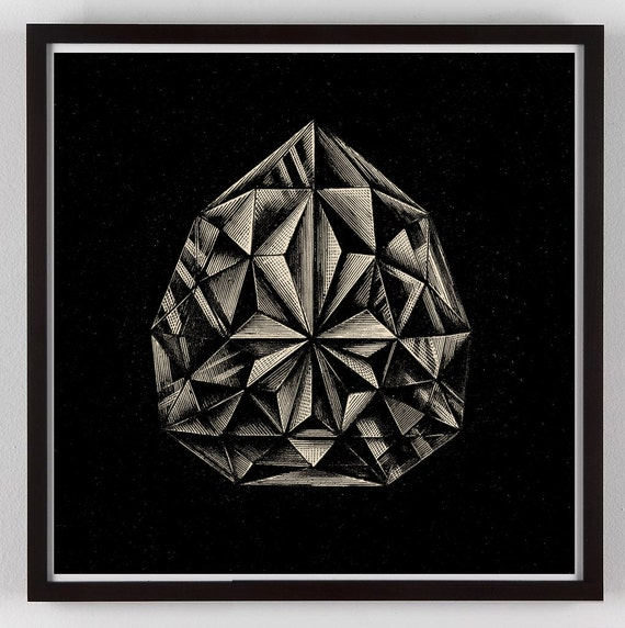 Jewel Wall Art Gem Art Diamond Art Print Gem Art Diamond | Etsy