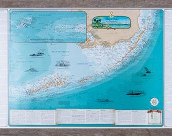 Florida Keys Map Etsy