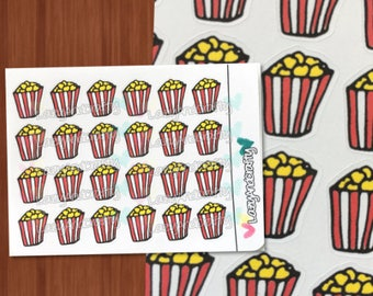 Popcorn Icon - Planner Stickers - ECLP, Happy Planner, Filofax, scrapbooking and more!