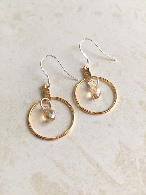 Bridesmaids Earrings Wedding Jewelry Gold Earring Etsy