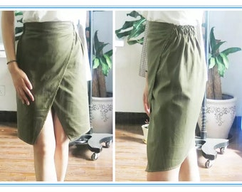 Stacked Women Vent Skirt PDF Digital Instruction, PDF Digital Pattern, Women Dress