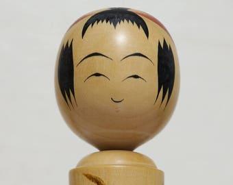 Vintage Kokeshi Doll Japanese Wooden Doll Traditional Japanese vintage Kokeshi Doll Wood Kokeshi Doll