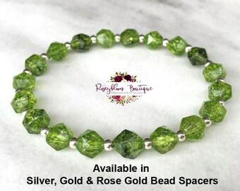 7679cbe82934d Silver bead bracelet | Etsy