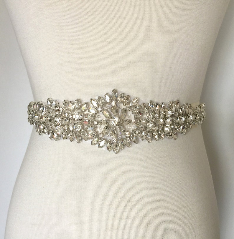 32d80ed18e Applique Sash-Wedding Sash-Crystal Sash-Bridal Sash-Rhinestone Sash-Bride  Sash-Rhinestone Belt-5.5cm (2.2