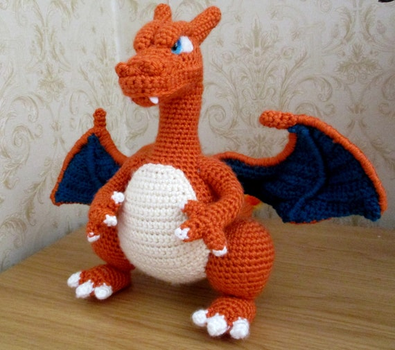 I crocheted a giant Charizard 🔥 : Amigurumi | 505x570