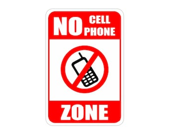 no cell phone zone sign aluminum signs heavy gauge no rust 18 x 12