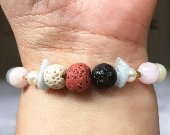 Gemstone Bracelet, for applying Essential Oils