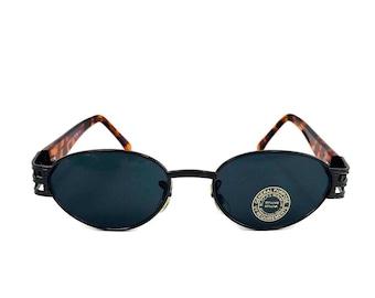 fe0879684a7a 90 s Small Oval Sunglasses Retro Art Nouveau Vintage Style Pimp Gucci  Tortoise Shell Frame