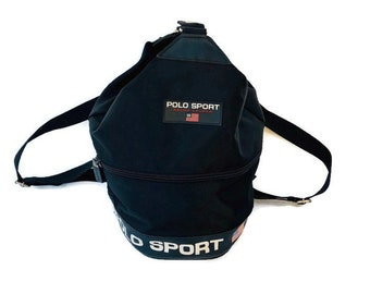 2e5a0e2f2efd 90 s Polo Sport Backpack Purse Bucket Bag Ralph Lauren Polo Sport large