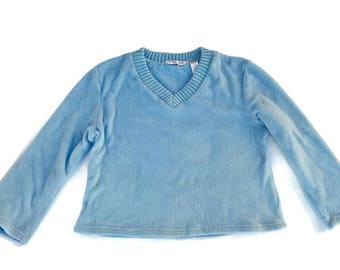 Baby Blue Fuzzy Sweater