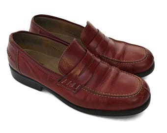 Red Leather Loafers by Bass size 11